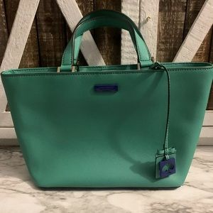 Kate spade green and blue handbag purse medium